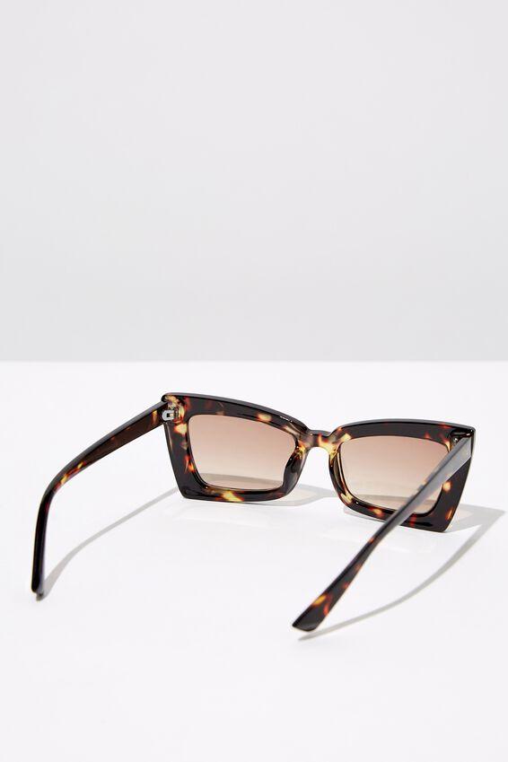 Angular Rec Sunglasses, TORT_BRN