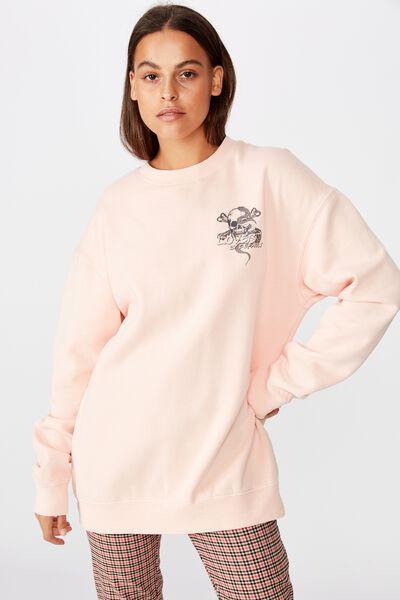 Graphic Sweater, VINTAGE SEASHELL/LOVER SKULL
