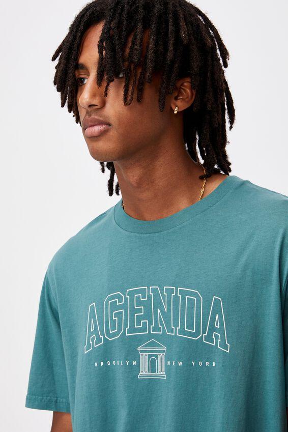Regular Graphic T Shirt, WASHED PINE TEAL/AGENDA