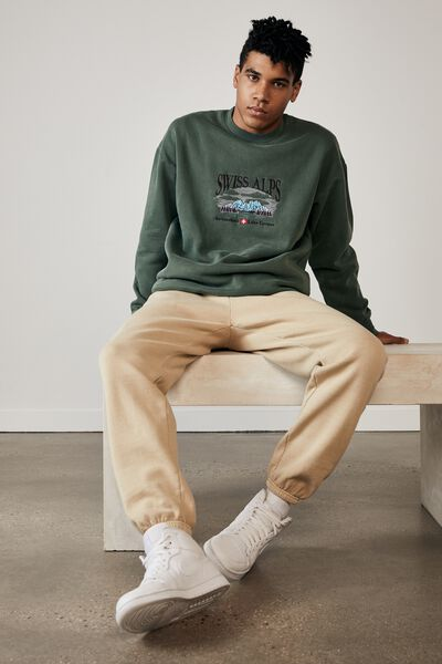 Relaxed Trackpant, WASHED DIRT OAK