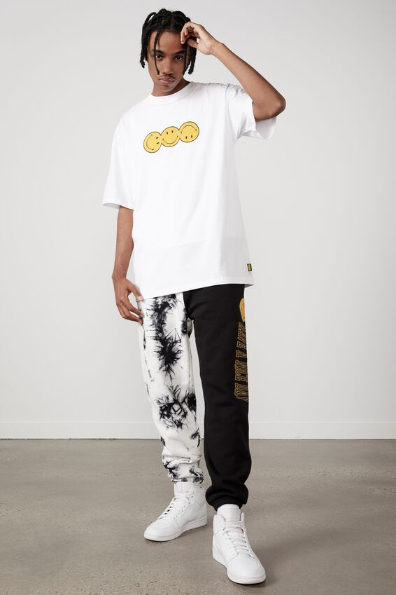 Oversized Smiley T Shirt, LCN SMI WHITE/SMILEY ROTATE