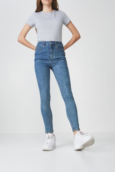 The High-Rise Skinny Jean, BONDI BLUE