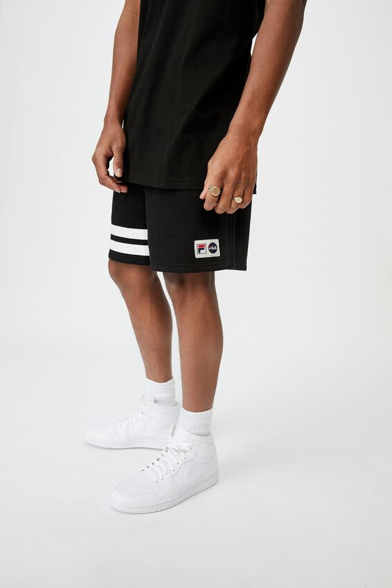 Lcn Fila Fleece Short, BLACK/COLLEGIATE