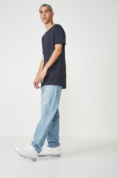 Longline T Shirt, BLUEBERRY