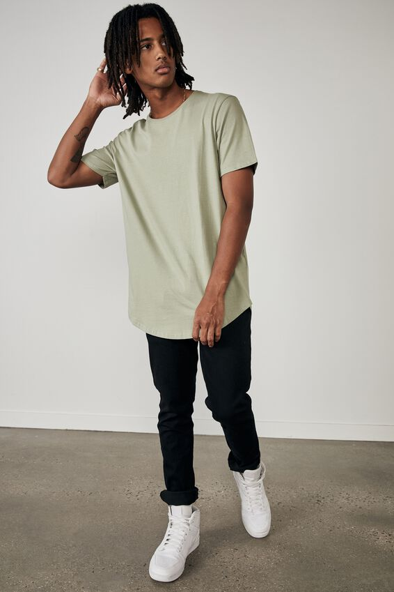 Curved T Shirt, SAGE