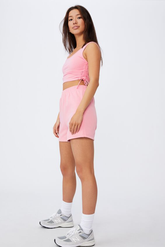 Ruched Side Seam Tank, BABE PINK