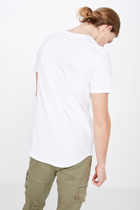Curved Graphic T Shirt, WHITE/FADED ANGEL