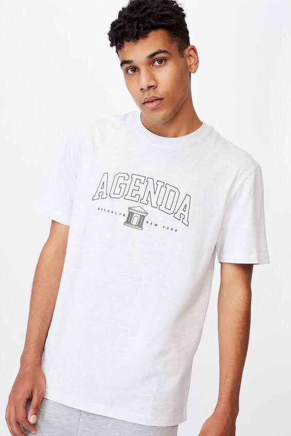 Regular Graphic T Shirt, SILVER MARLE/AGENDA