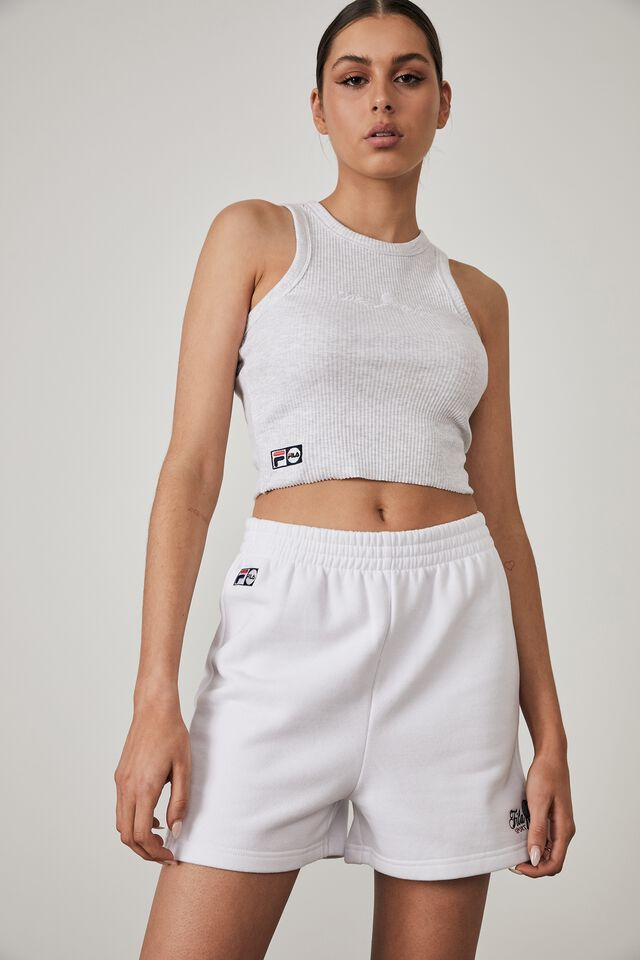Fila Lcn Fleece Short, WHITE/FILA SPORT