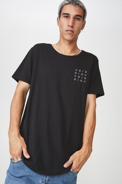 Curved Graphic T Shirt, BLACK/VOID BLOCK