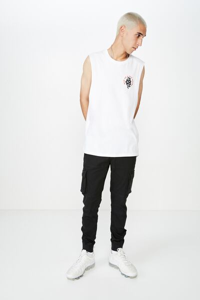 Graphic Muscle Tank, WHITE/MAD SNAKE