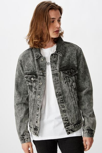 Garage Denim Jacket, WASHED GREY