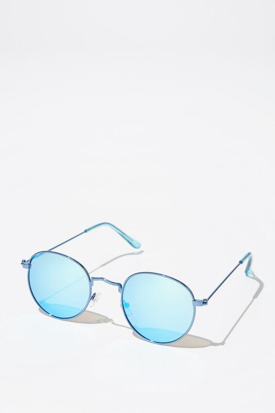Splendour Round Sunglasses, S.BLUE_ICE BLU