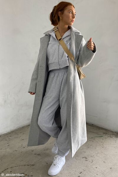 Maxi Coat, GREY MARLE
