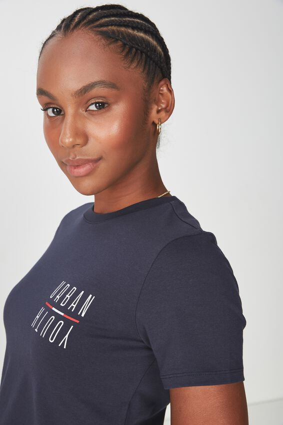 Fitted Graphic T Shirt, NAVY/URBAN YOUTH