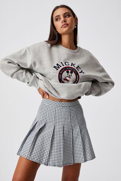 Pleated Skirt, MILLIE GINGHAM ETHER