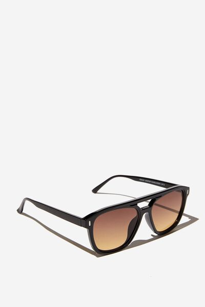 Ashley Aviator Sunglasses, BLACK