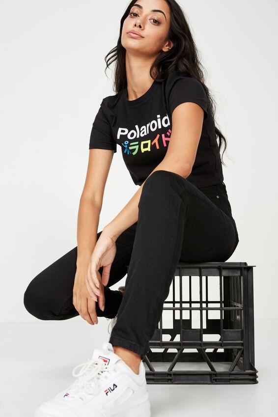 Polaroid Lcn Tokyo T Shirt, BLACK