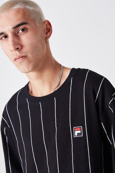 Fila Crew Tee Stripe, BLACK