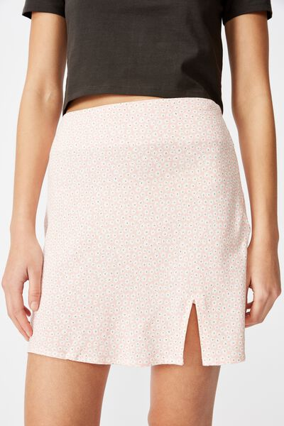 Textured Mini Skirt, IRIS DITSY_PEACH