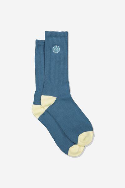 Retro Ribbed Socks, FCT_SAGE