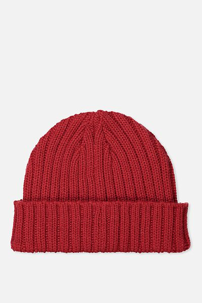 Fishermans Beanie, LYCHEE RED