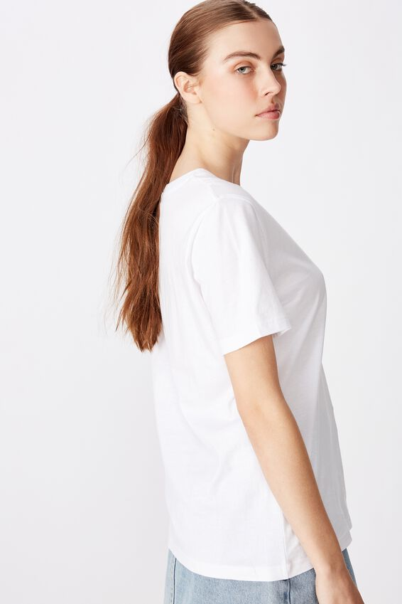 Relaxed Graphic T Shirt, WHITE/NO ANGEL