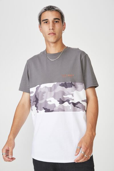 Camo Spliced T Shirt, TORNADO/CAMO SPLICE