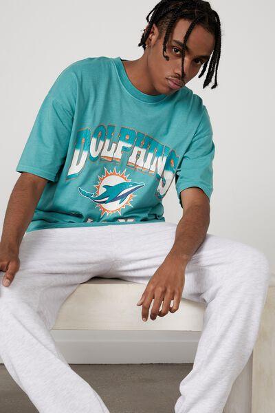 Oversized Nfl T Shirt, LCN NFL WASHED TILE BLUE/MIAMI DOLPHINS