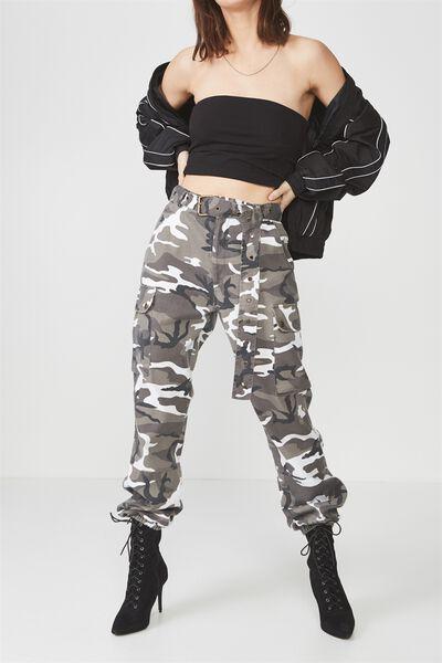 Military Pant 3, WHITE CAMO