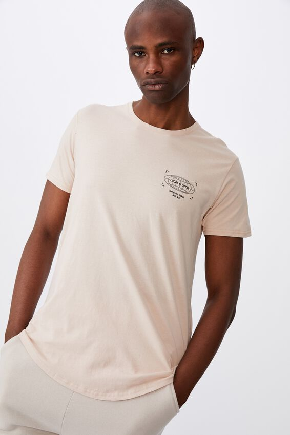 Curved Graphic T Shirt, DIRTY PINK/LOCAL AND LOYAL