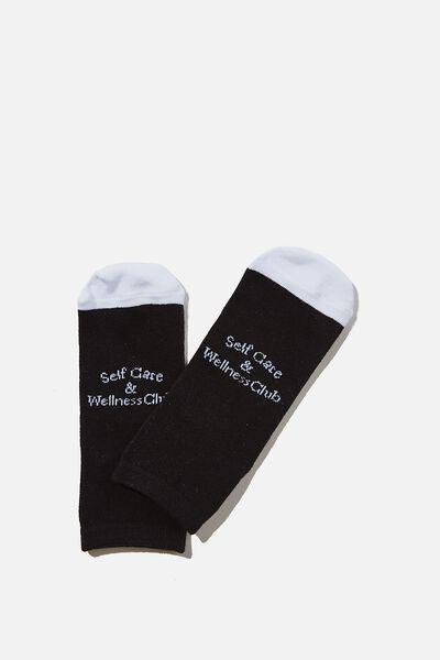 Anklet Original Sock, SELF CARE BLACK