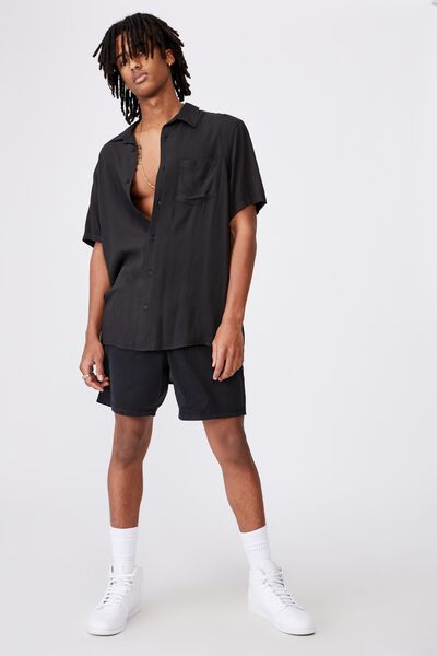 Resort Shirt, BLACK