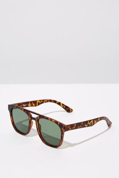 Preppy Topbar Sunglasses, M.TORT_GRN