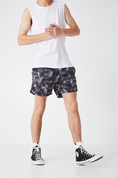 Jose Poolboy Short 2, GRAYSCALE TIE DYE