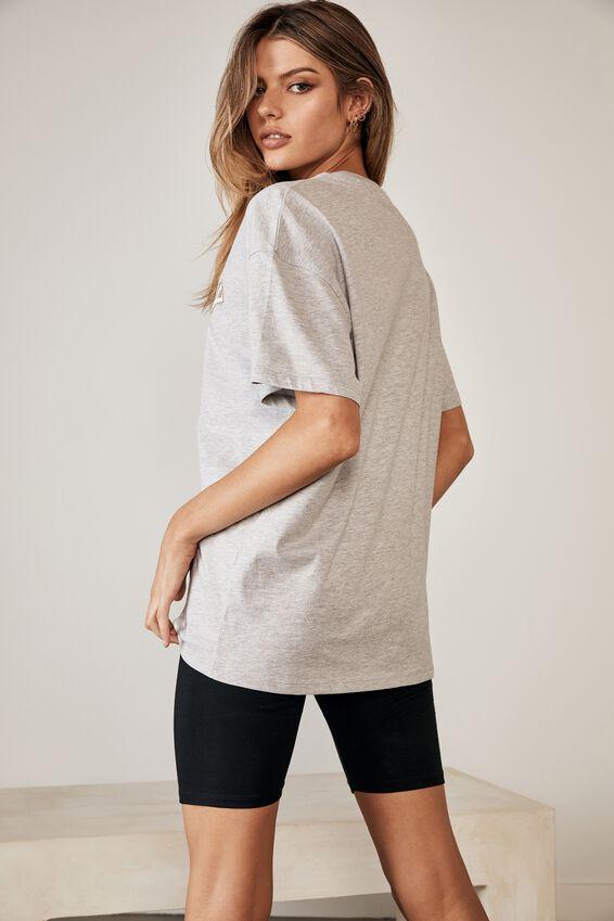 Lcn Super Relaxed Pop Culture T Shirt, GREY MARLE/TWEETY EMBLEM