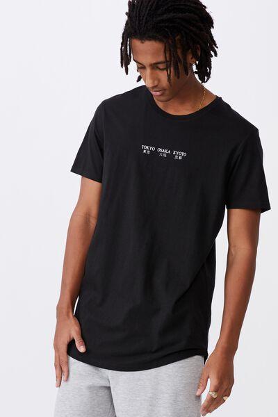 Curved Graphic T Shirt, BLACK/JAPAN TOUR