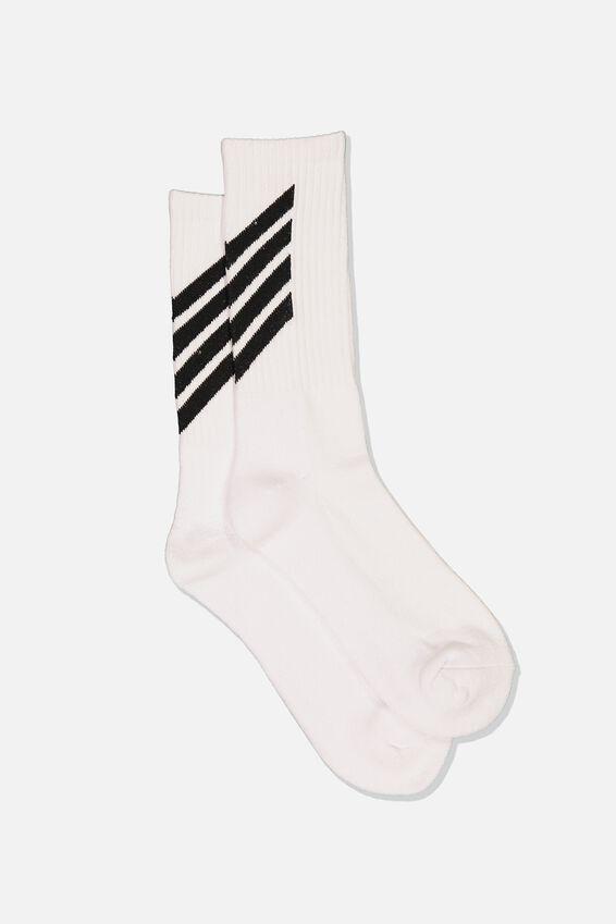Retro Ribbed Socks, DOWNWARD-WTE