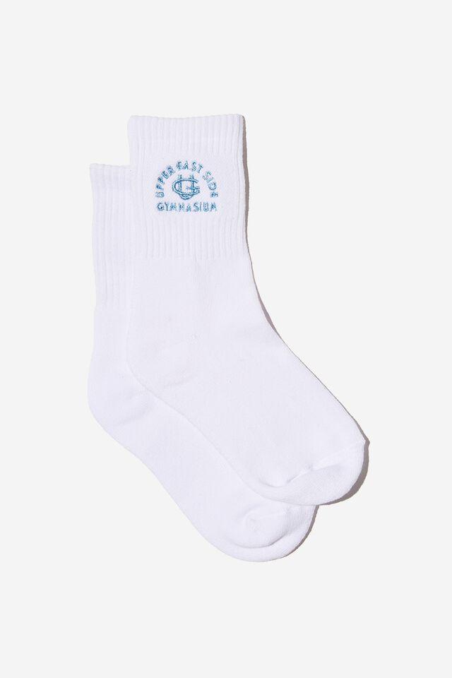 Retro Sport Sock, WHITE/UPPER EAST SIDE