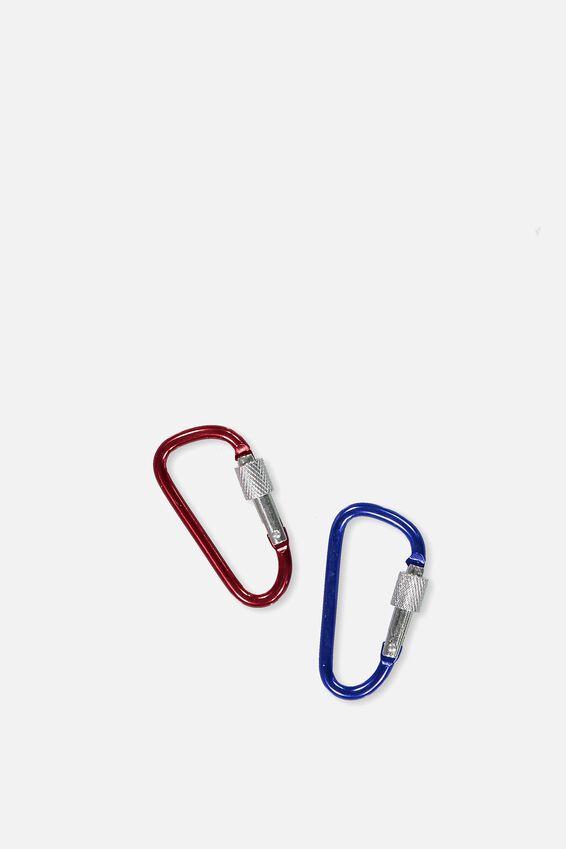 Carabiner Clip Pack, COBALT_RED