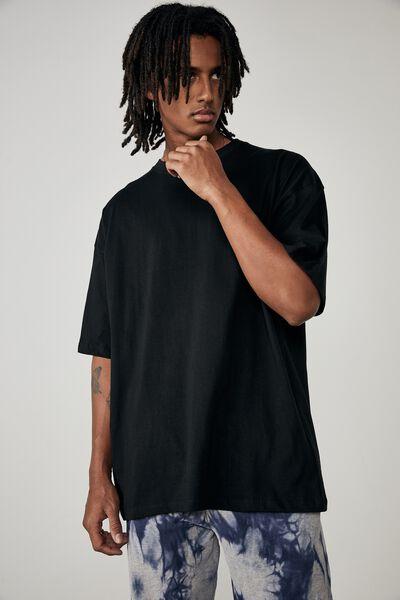 Basic Relaxed T Shirt, BLACK