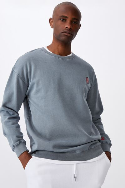 Elevated License Crew, LCN COK WASHED GREY/COKE CAN