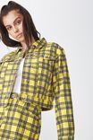 Co-Ord Denim Jacket, YELLOW CHECK