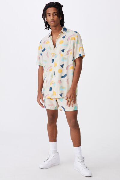 Resort Shirt, ECRU SHAPES