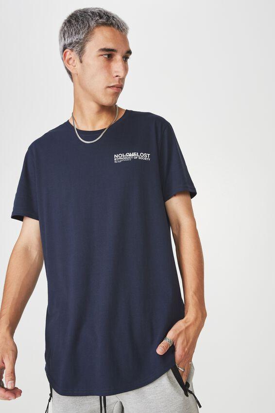Curved Graphic T Shirt, DARK SAPHIRE/NO LOVE LOST