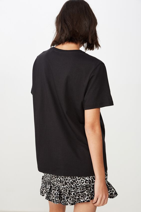 Relaxed Graphic T Shirt, BLACK/HONEY