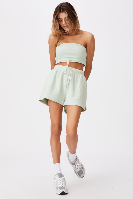 Reverse Fleece Short, CELADON