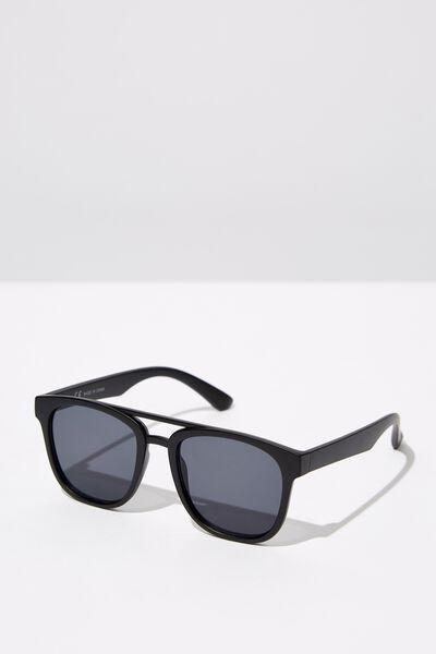 Preppy Topbar Sunglasses, M. BLK_SMK