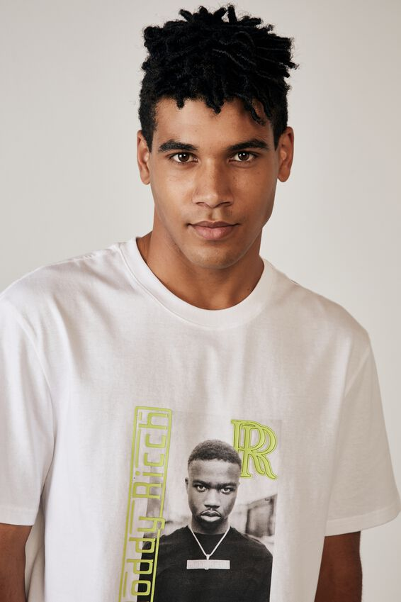 Regular Music Merch T Shirt, LCN WMG WHITE/RODDY RICCH