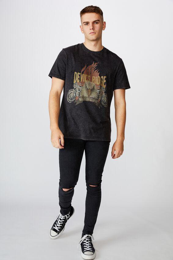 Regular Graphic T Shirt, WASHED BLACK/DEVILS RIDGE